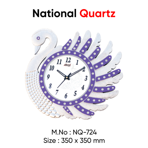 Peacock bird shape wall clock