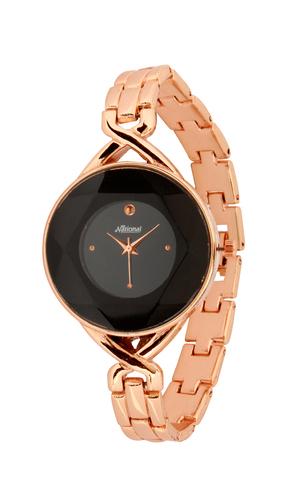 Rose gold belt female wrist watch