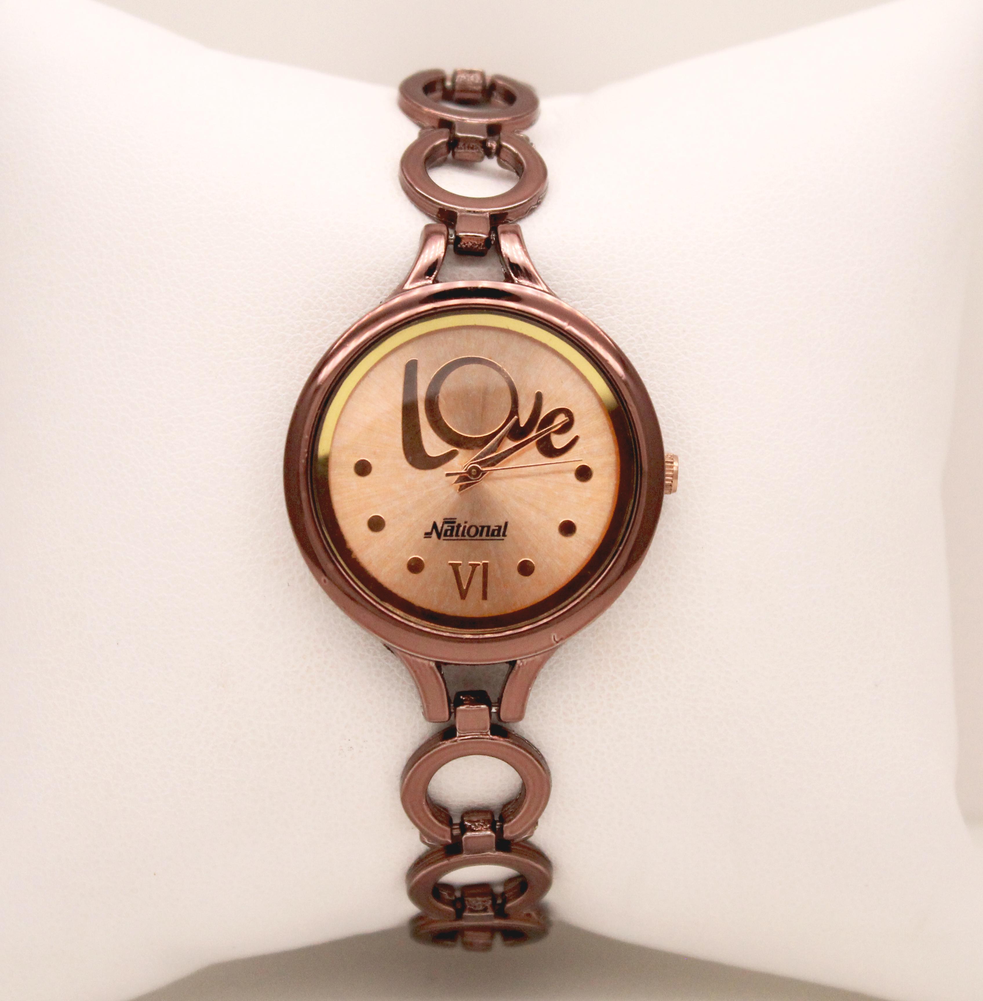 Classic rose gold wrist watch