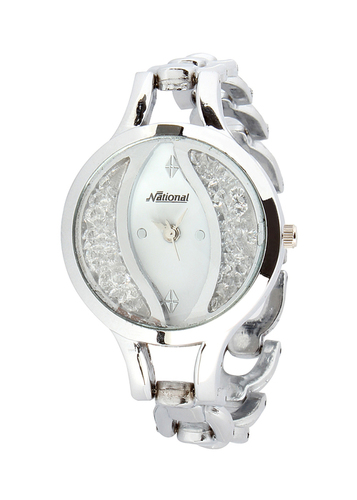 Designer Silver belt watch