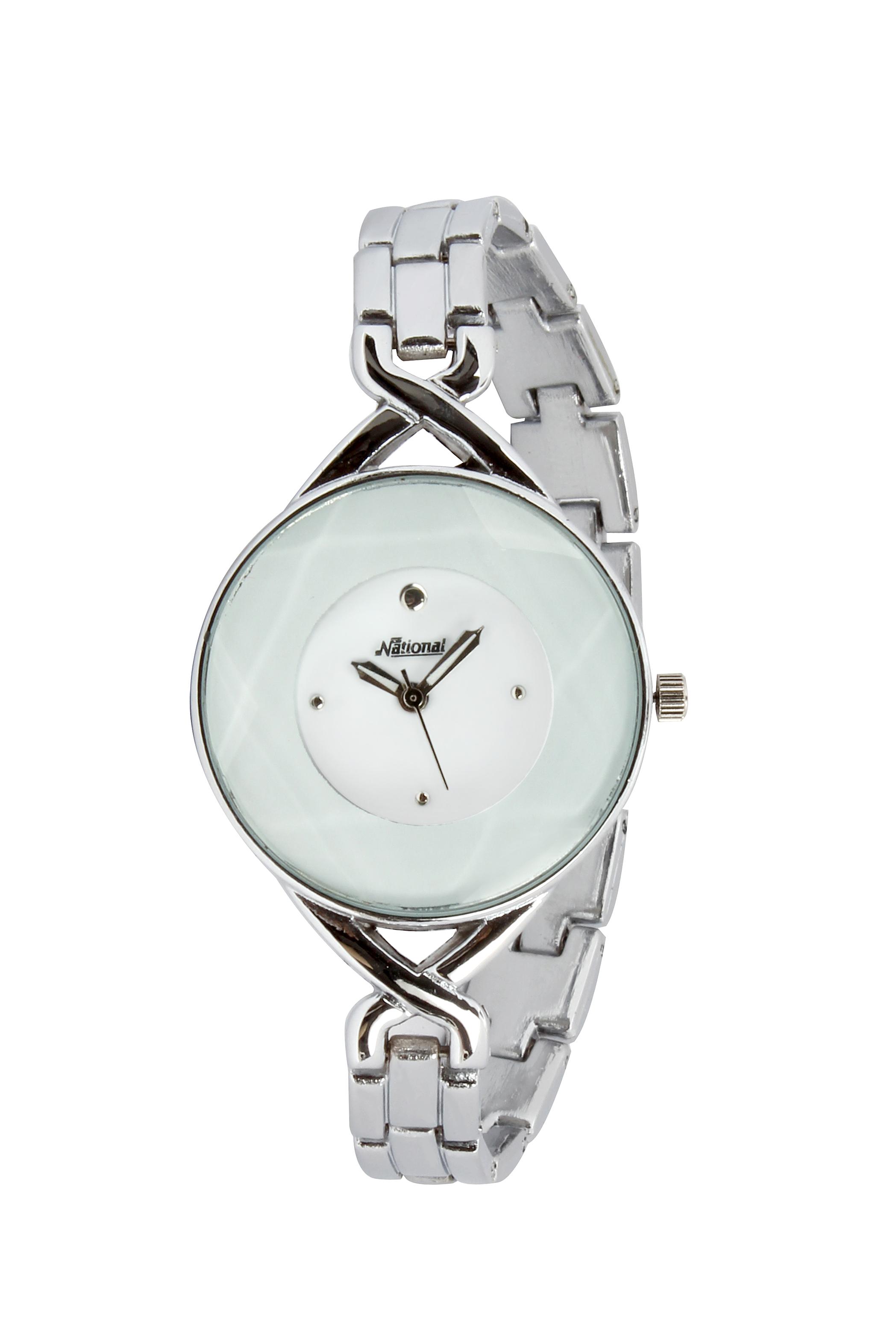 Designer Silver belt watch
