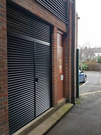 Casement Door With Aluminium Louvers