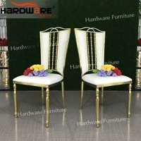 stainless steel wedding dining chair
