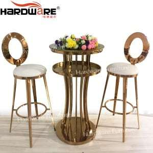 Round high bar table