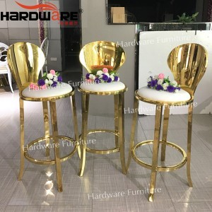 gold metal bar stool