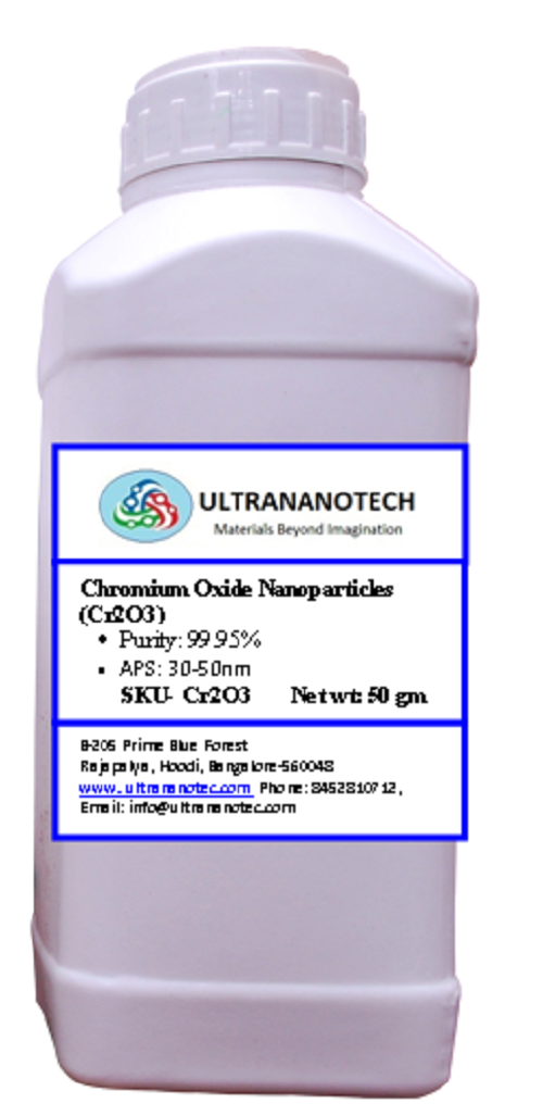 Chromium oxide nano owders