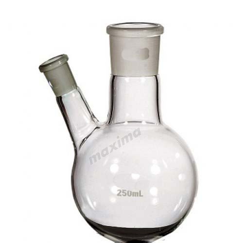 ROUND BOTTOM FLASK, WITH TWO NECK