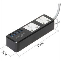 Extension Board, 4 USB Ports, 2 Sockets