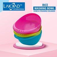 Rice Pulses Fruits Vegetable Noodles Pasta Washing Bowl & Strainer