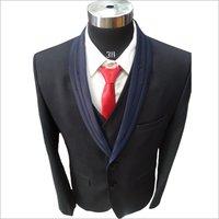 Mens 3 Piece Black Suit