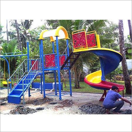 Spiral FRP Playground Slides