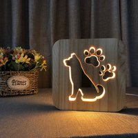 LED wooden decoration night light