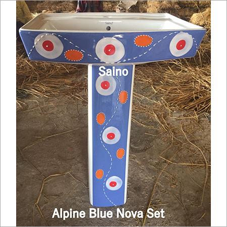 ALPINE BLUE SQUARE VITROSA SET 20X16