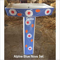 ALPINE BLUE SQUARE VITROSA SET 20X16