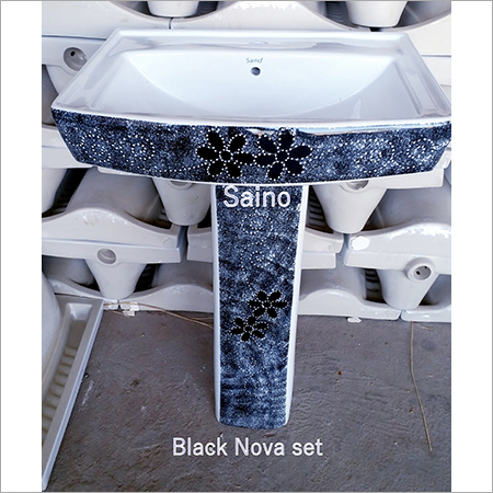 20X16 SQUARE BLACK NOVA VITROSA  SET