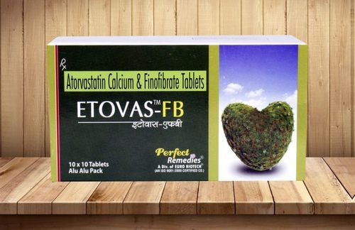 Atorvastain calcium 10 mg & Fenofibrate 160 mg