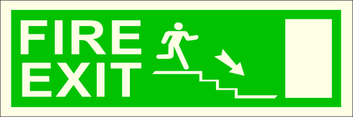 Fire Safety Exit Signs