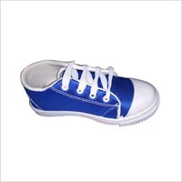 Blue Canvas Tennis Shoes