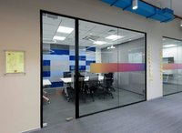 NEW ALUMINIUM SLIM OFFICE PARTITION