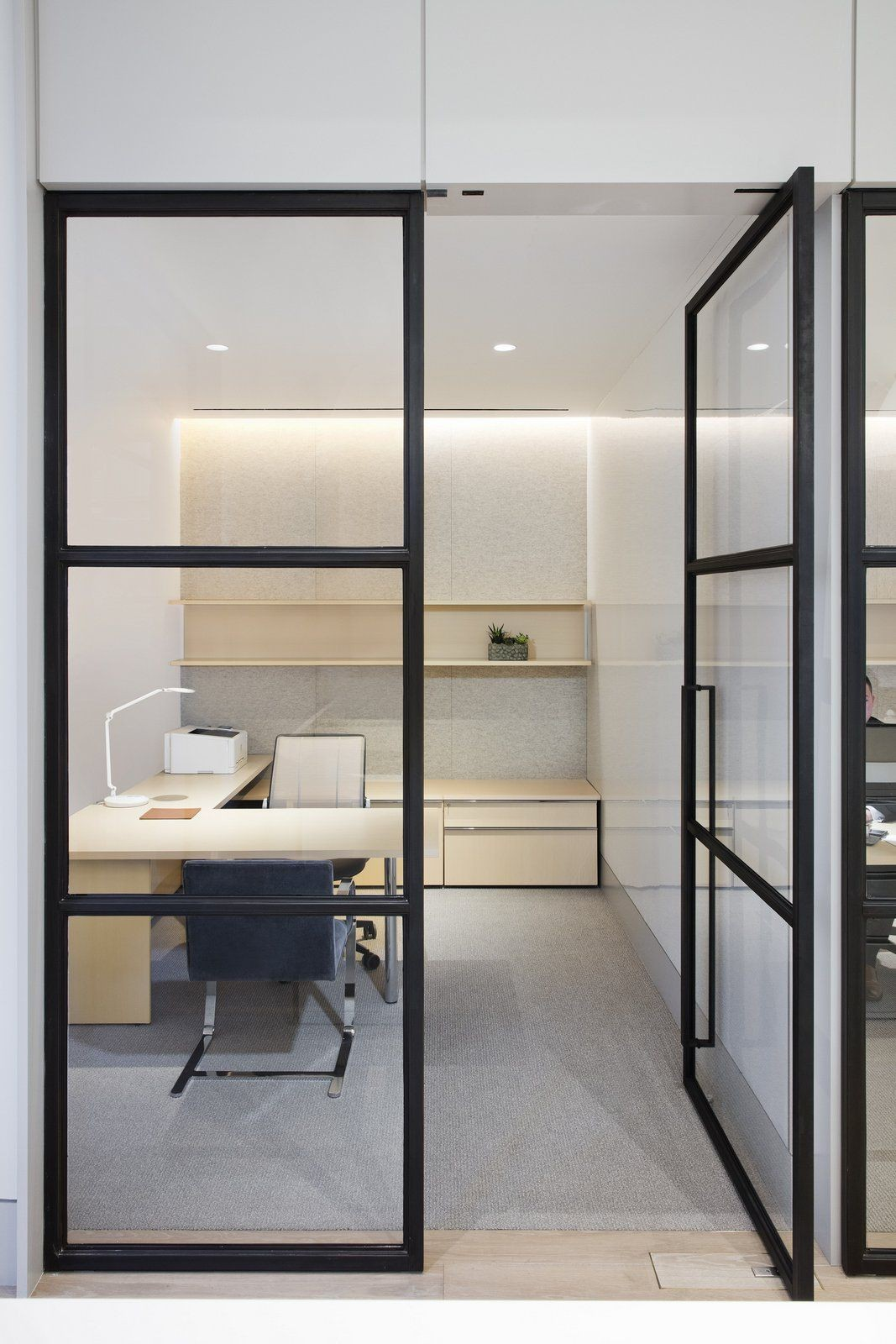 New office Partition slim Look full Glasses