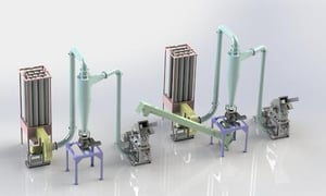 Two Stage Spice Grinding System ( 500 To 5000 Kg/hr)