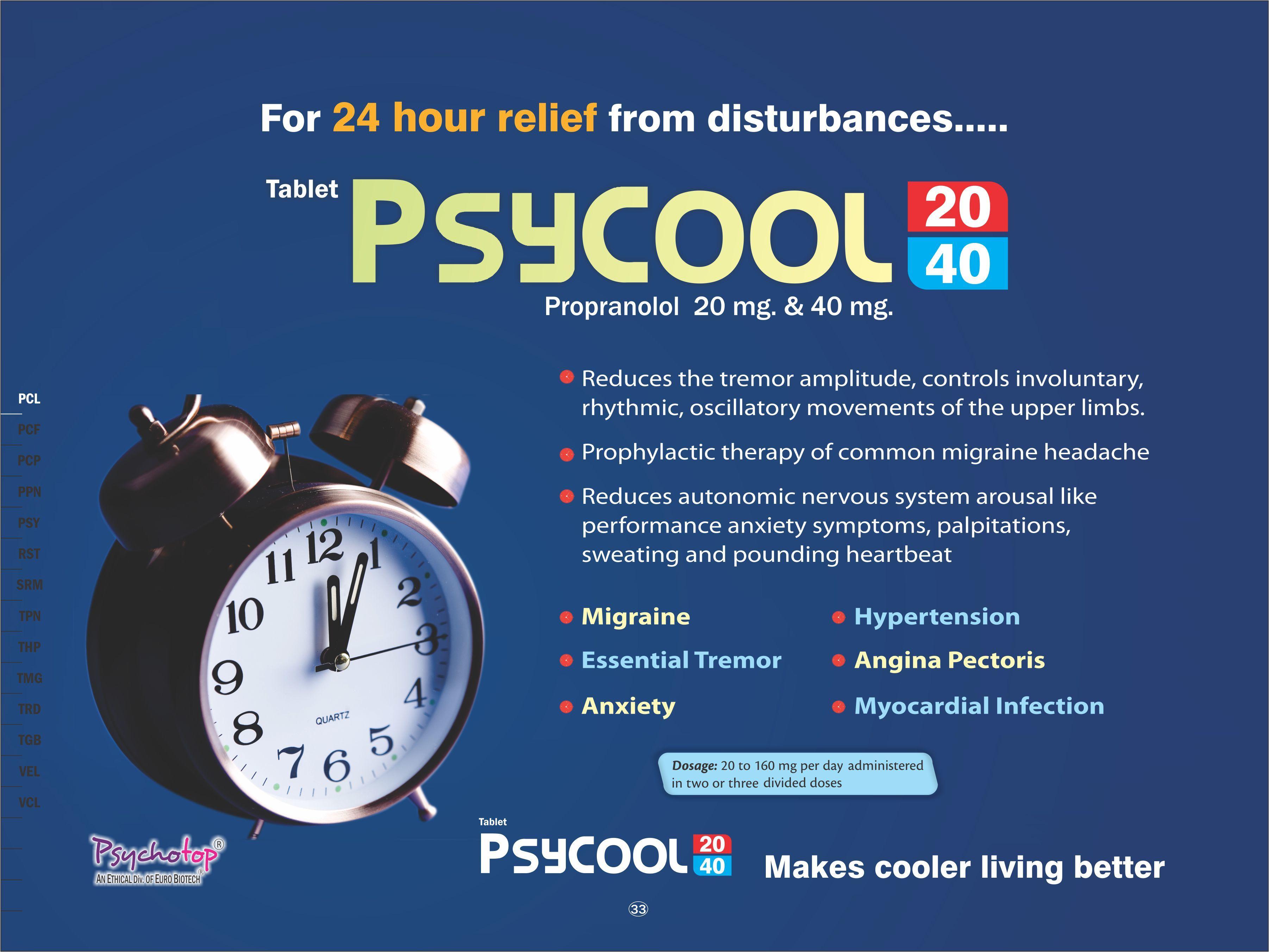 Propranolol 20 mg & 40 mg