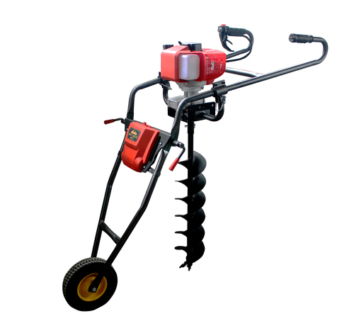 1E48F Gasoline Hand push Ground Drill 68cc Petrol