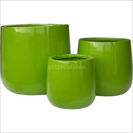 Glossy Green Planter