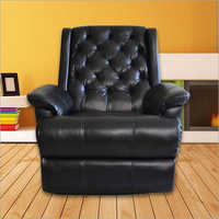 Button Leather Living Room Recliner