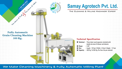 Full Automatic Grain Cleaning Machine 500kg