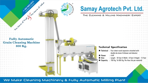 Full Automatic Grain Cleaning Machine 800kg