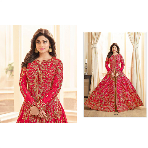 Red Anarkali Salwar Suit