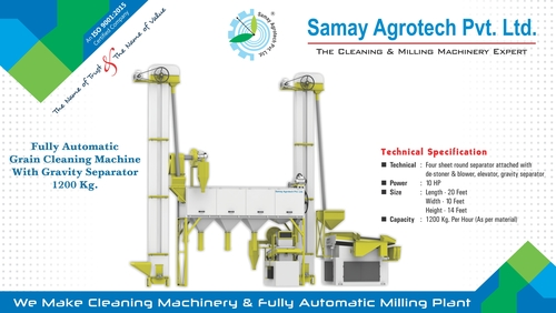 Full Automatic Grain Cleaning Machine Gravity Seperator 1200Kg