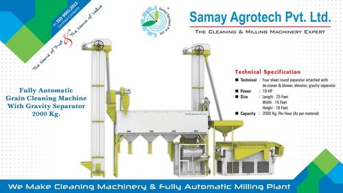 Full Automatic Grain Cleaning Machine Gravity Seperator 2000Kg