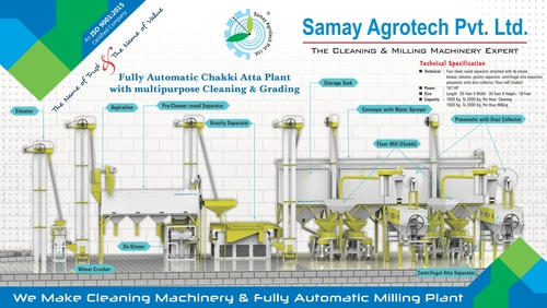 Fully Automatic Chakki Atta Plant with Multipurpose Cleaning and Grading