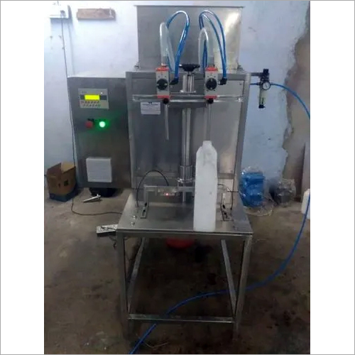 TWO HEAD SEMI AUTOMATIC VISCOUS FILLING MACHINE