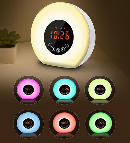 Creative Sunrise Wake-up Lamp with Bluetooth