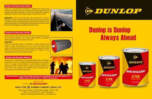 Dunlop Solution Conveyor Belt Adhesive Products