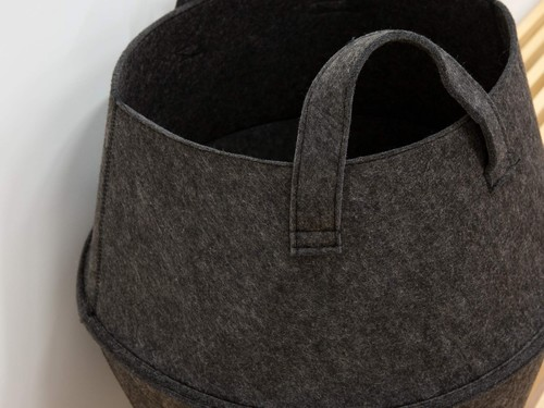 Foldable Felt Laundry storage Basket Bag
