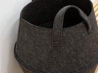 Foldable Felt Laundry storage Basket Bag