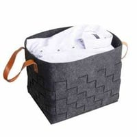Woven Laundry Hamper Storage Basket Bag