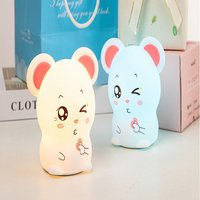 Mini Silicone LED Mouse Night Lamp