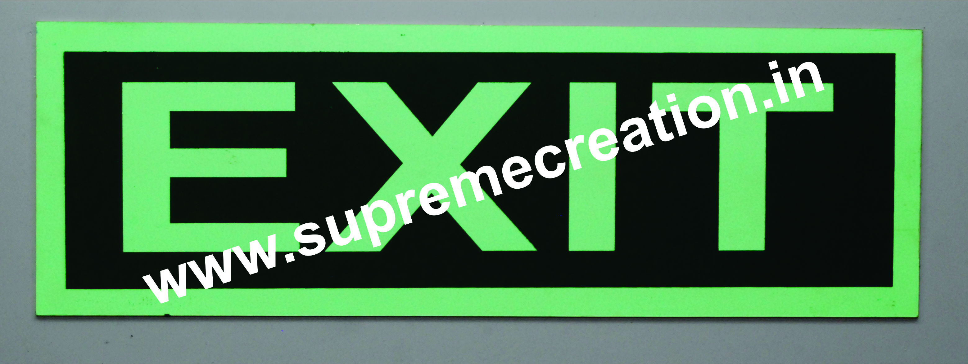 Fluorescent Fire Exit Signs
