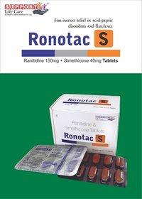 Ranitidine Hydrochloride 150 mg + Simethicone + 40 mg