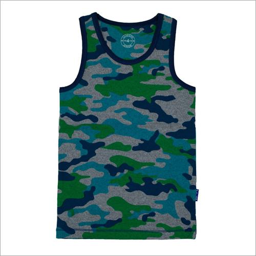 Boys Camouflage Printed Vest