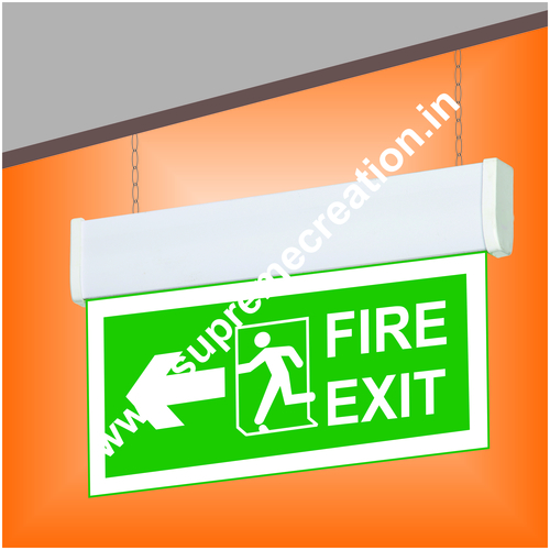 Hanging Fire Exit Signs