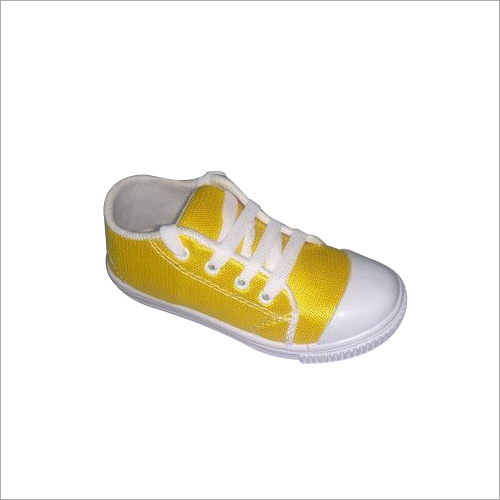 Yellow School Canvas Shoes