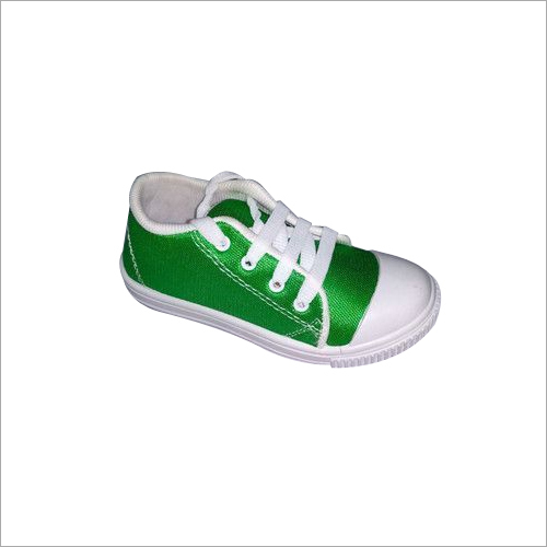 Green Print School Canvas Shoes