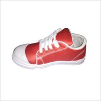 Red Print School Canvas Shoes