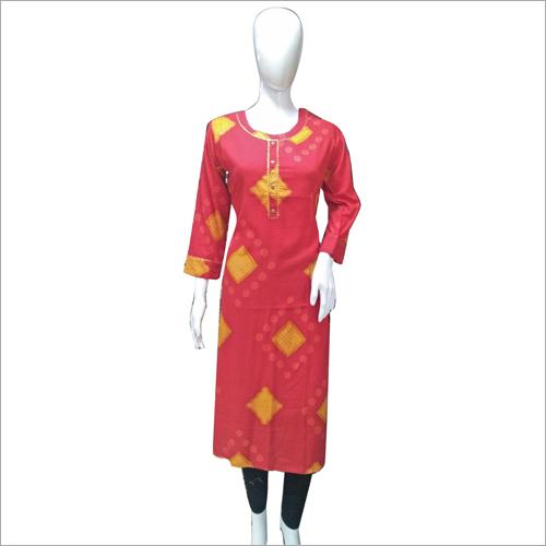 Chanderi Silk Long Kurti